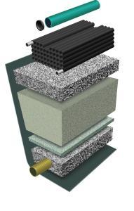 Tät duk LPDE, 1 mm för markbädd 6X13m