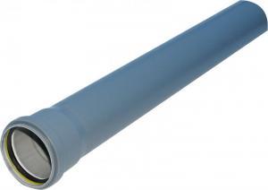 HT-rör 110mm m. muff L=1m PP