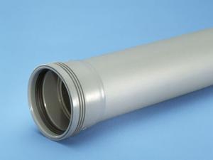 HT-rör 110mm m. muff L=3m PP