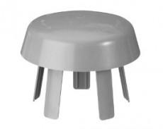 Ventilationshuv 110mm - Hatt grå